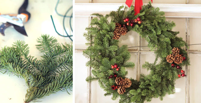 Evergreen Wreath DIY