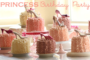 Princess Party Ruffle Cakes