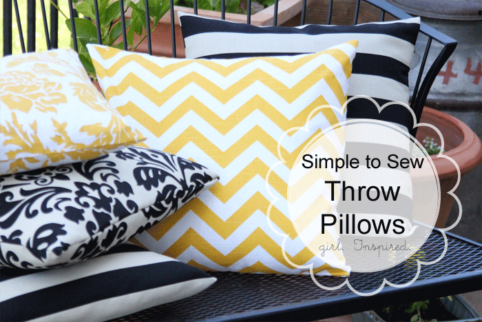 how to make a pillow simple sewing girl inspired. Black Bedroom Furniture Sets. Home Design Ideas
