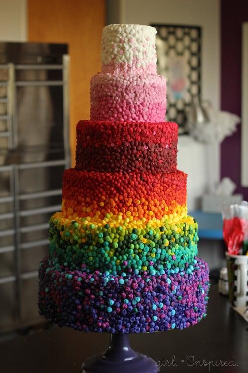 Rainbow Cake By Girl Inspired