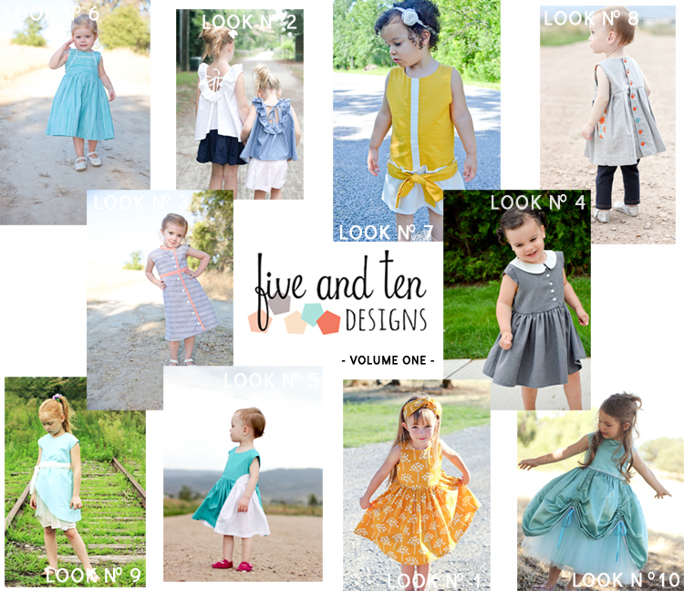 Ten Unique Girl's Dress Patterns from Five and Ten Designs