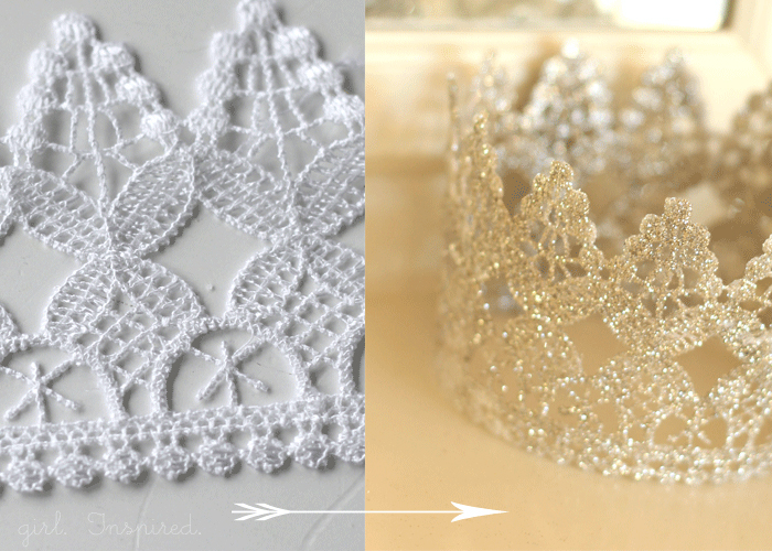 Lace Crown DIY - so cute!!
