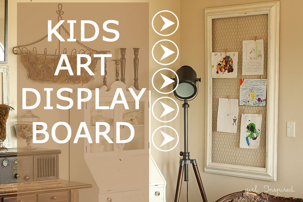Make a simple  Kids Art Display Board