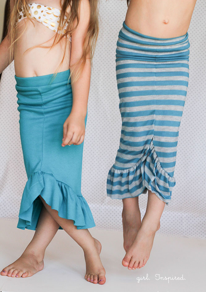 30-minute Mermaid Skirt Tutorial