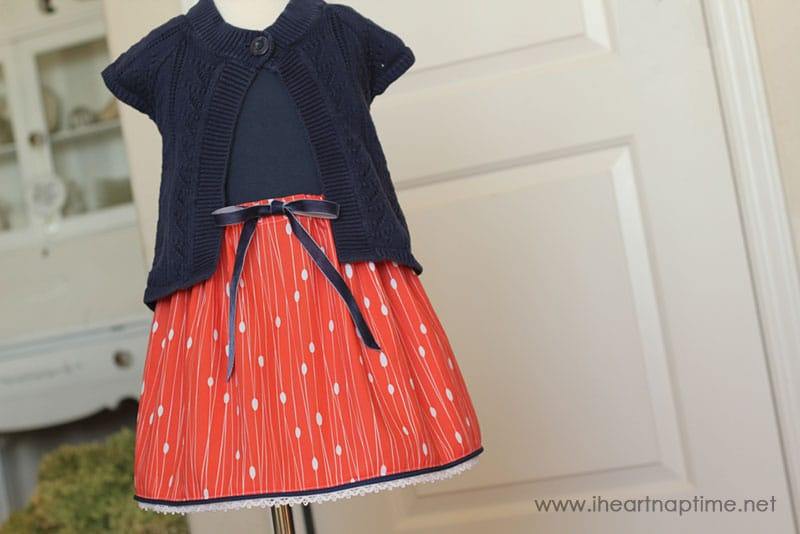 Color Block Dress with Modern Yardage Fabric
