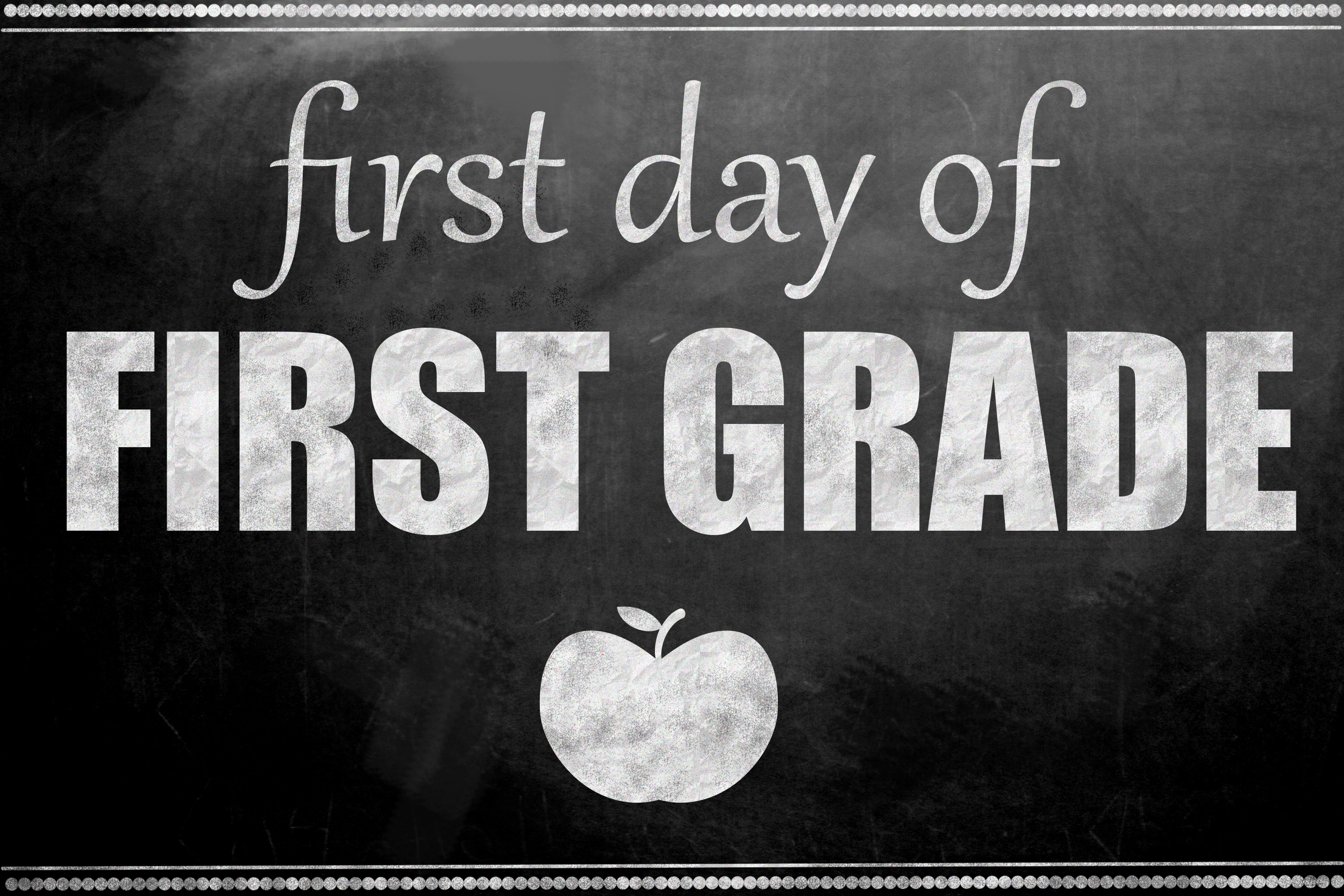 It is a photo of First Day of 1st Grade Printable Sign with printable 2017 2018