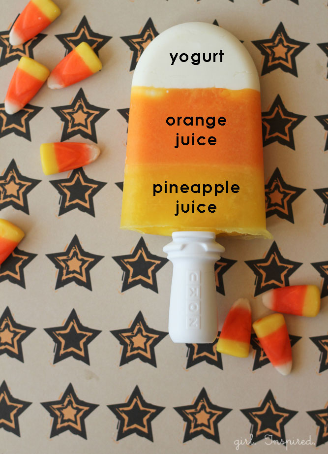 http://thegirlinspired.com/2013/09/candy-corn-popsicles/