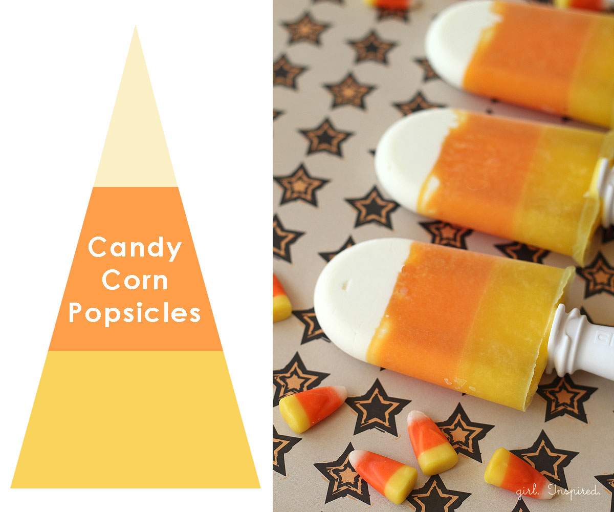 Candy Corn Popsicles - Fun and SUPER HEALTHY for the kids!