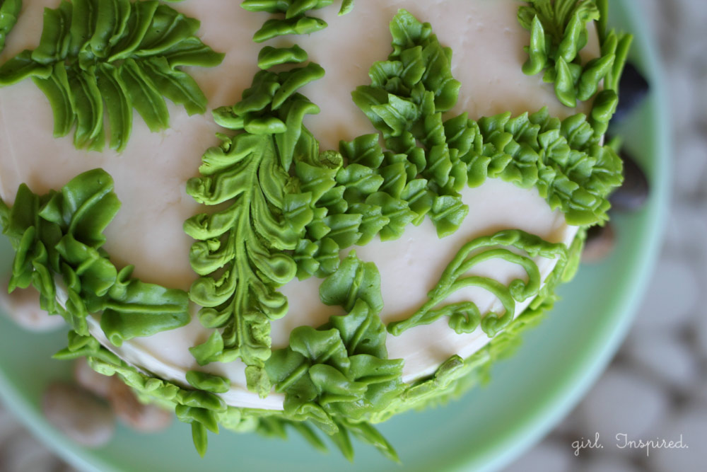 Fern Cake for Spa Birthday Party