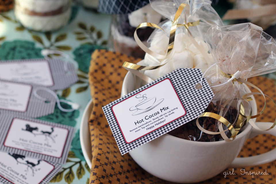 Hot Cocoa Printable Labels