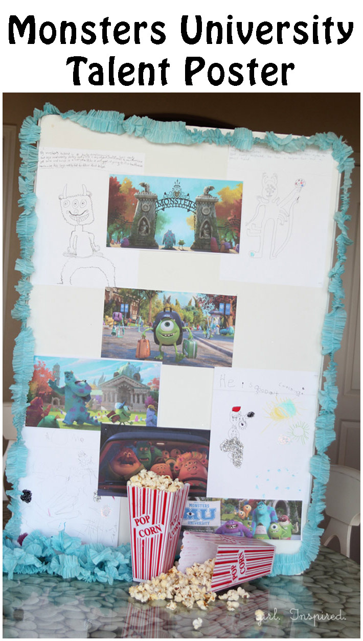 Monsters University Talent Activity and giveaway