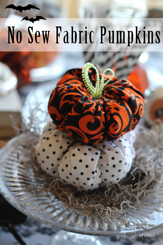 No-Sew Fabric Pumpkins