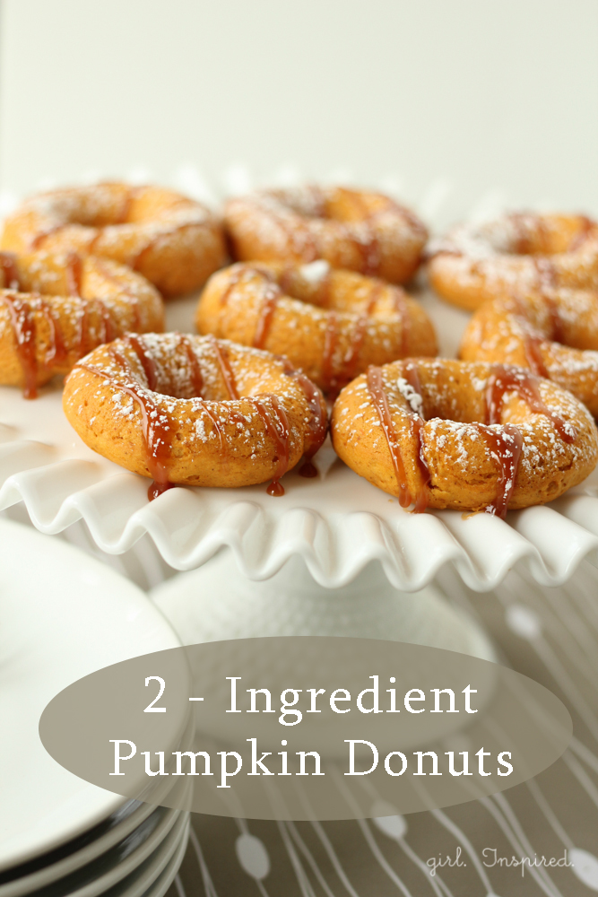 Two Ingredient Pumpkin Donuts