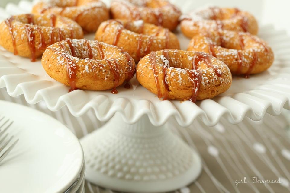 Two Ingredient Pumpkin Donuts