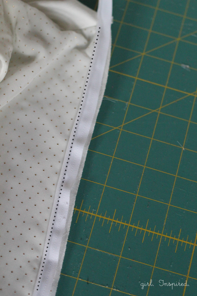 How to Install an Invisible Zipper into a lined bodice - step by step tutorial