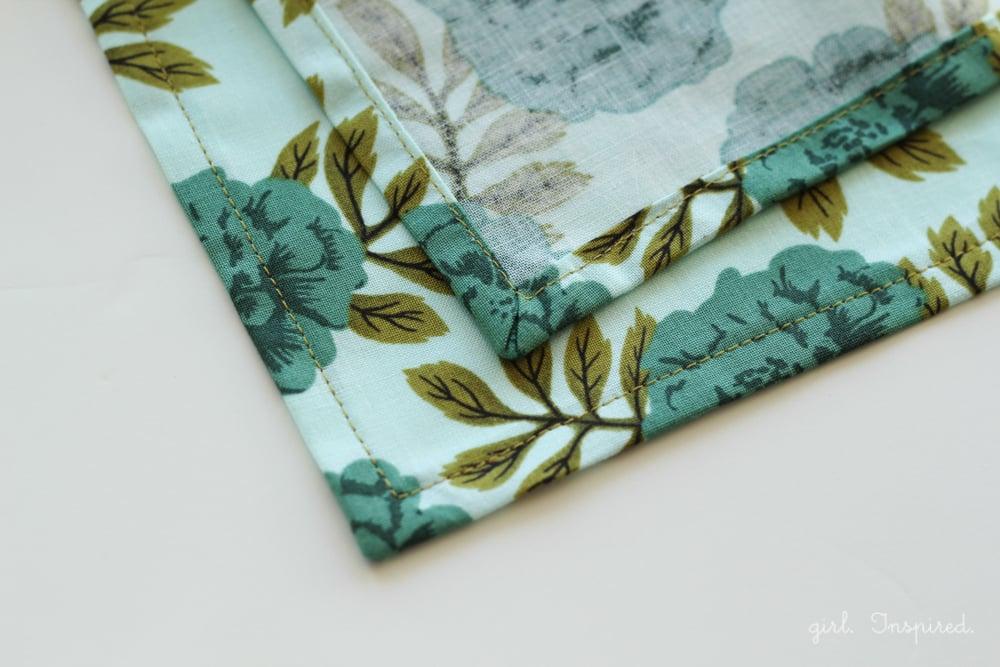 Easy sew dinner napkins