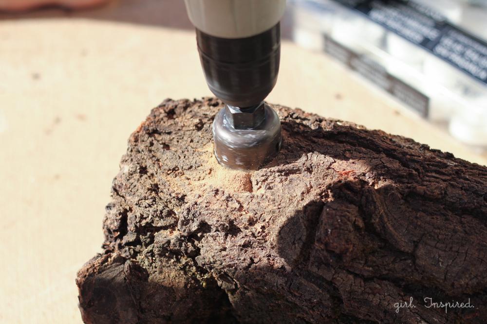 DIY Tealight Log