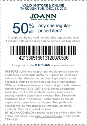 Jo-Ann coupon for #fabulouslyfestive