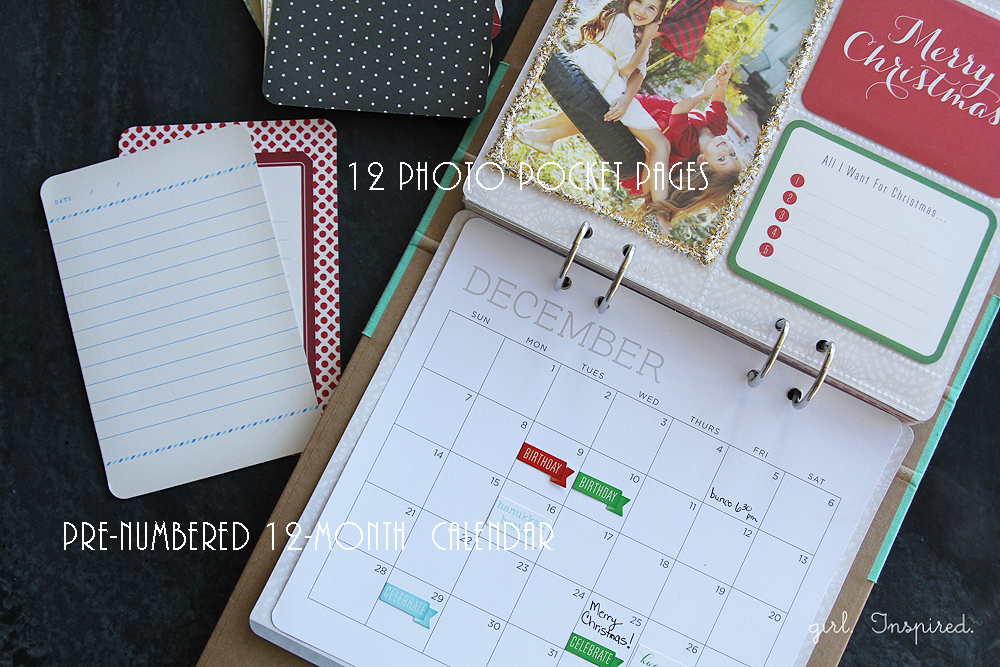 This Calendar Kit would make a great gift for a scrapbooker or a loved one!