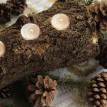 Tealight Log Centerpiece instructions