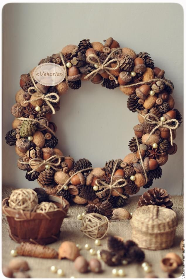 nut and acorn wreath