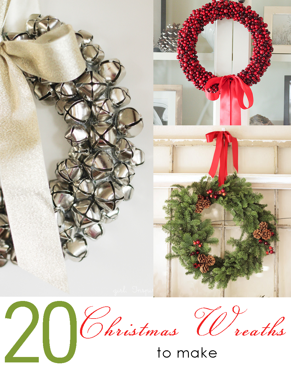 20 christmas wreaths to make girl inspired Christmas wreaths to make