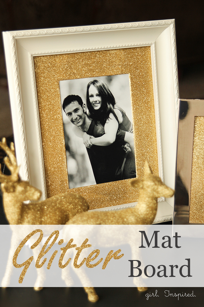 Glitter Mat Board for Picture Frames - girl. Inspired.