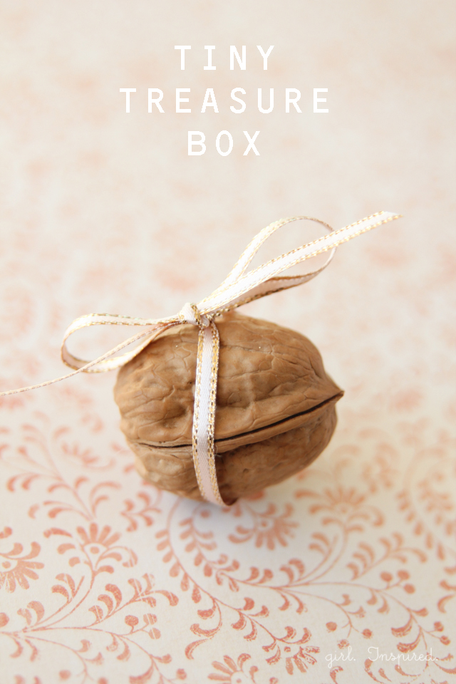 a Tiny Treasure Box made from a walnut