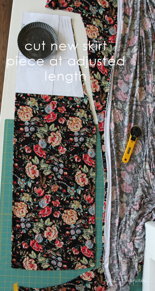 Floral Maxi Dress - learn how to convert top pattern to maxi dress