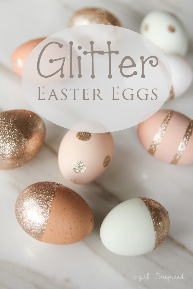 gorgeous Glitter Easter Eggs