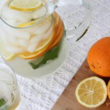 Orange Basil Infused Water