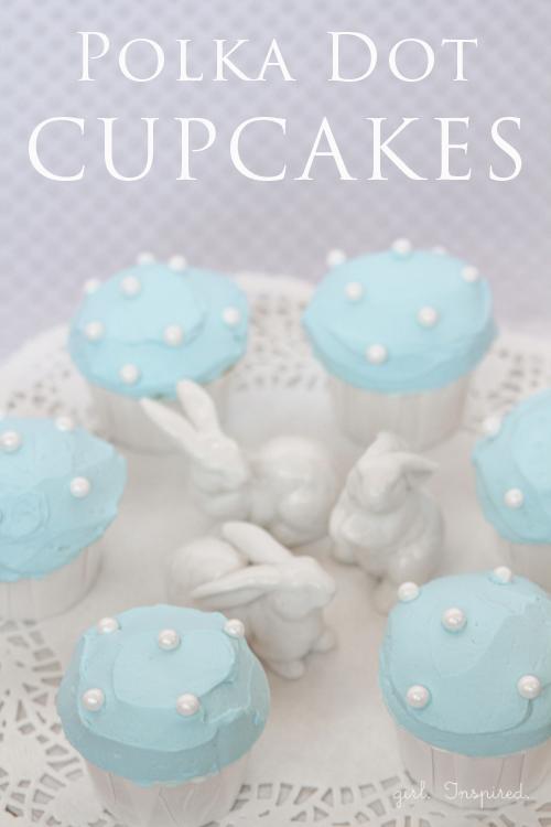 Polka Dot Cupcakes by Girl Inspired
