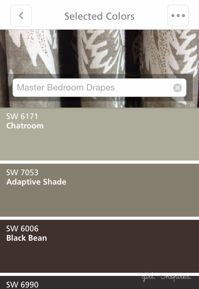 Sherwin-Williams Color Snap app
