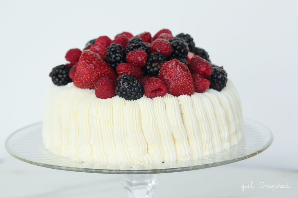Berry Topped Cake - Easy Cake Decorating! - girl. Inspired.