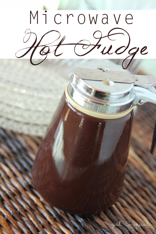Microwave Hot Fudge Sauce - easy to make in less than 10 minutes