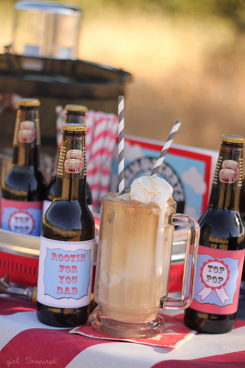 Free printable labels for Root Beer Float Kit for Father's Day