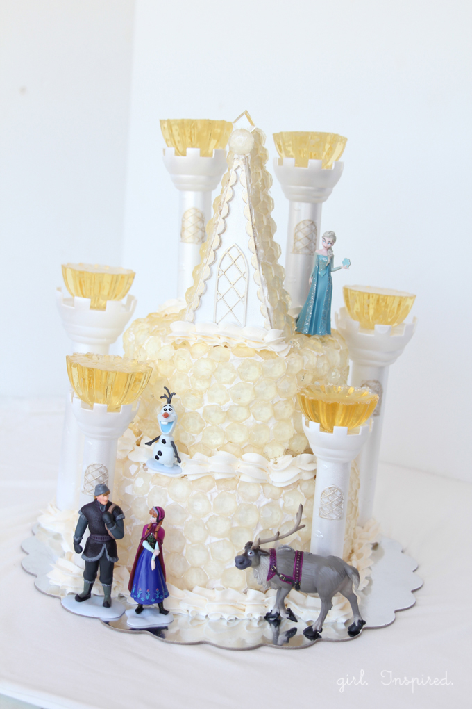 Frozen Birthday Party Cake - Ice Castle