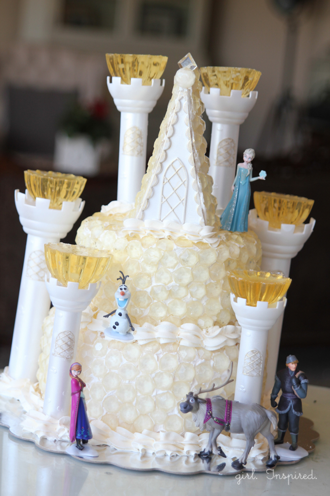 Pleasant Frozen Birthday Cake The Ice Castle Girl Inspired Funny Birthday Cards Online Overcheapnameinfo
