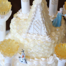 Frozen Birthday Cake - Ice Castle