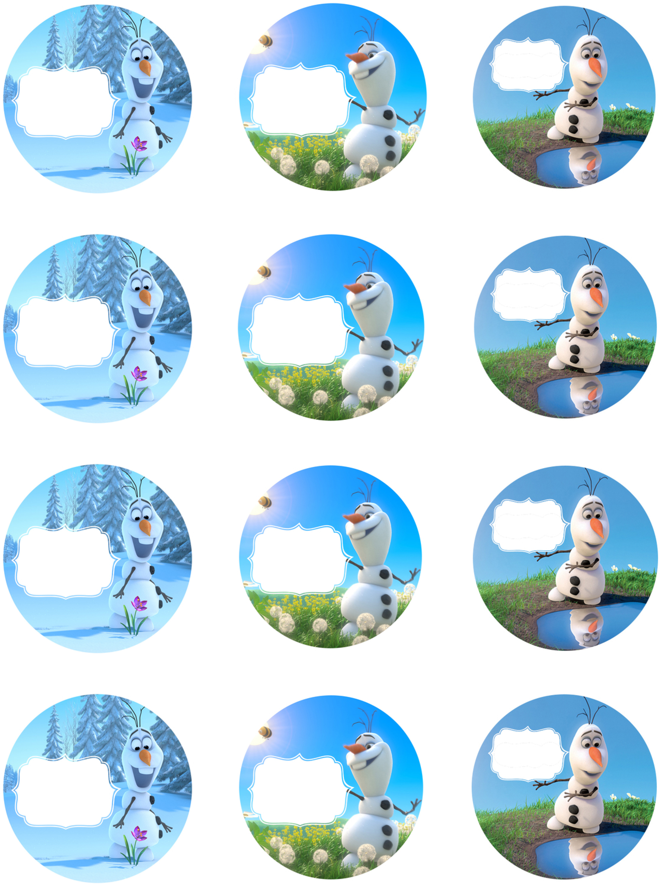 Frozen-Party-Jar-Labels - girl. Inspired.