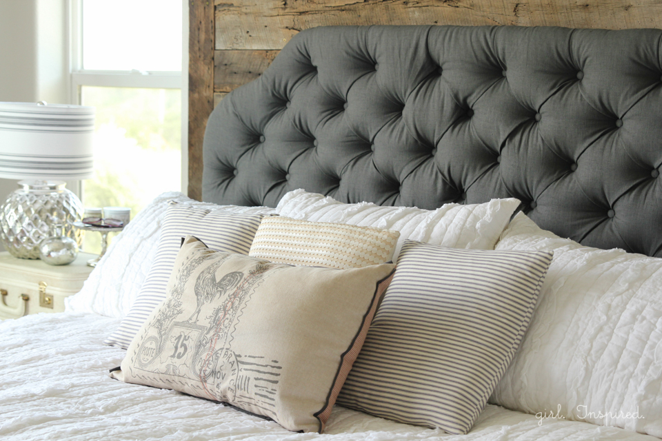how to make an upholstered headboard girl inspired. Black Bedroom Furniture Sets. Home Design Ideas