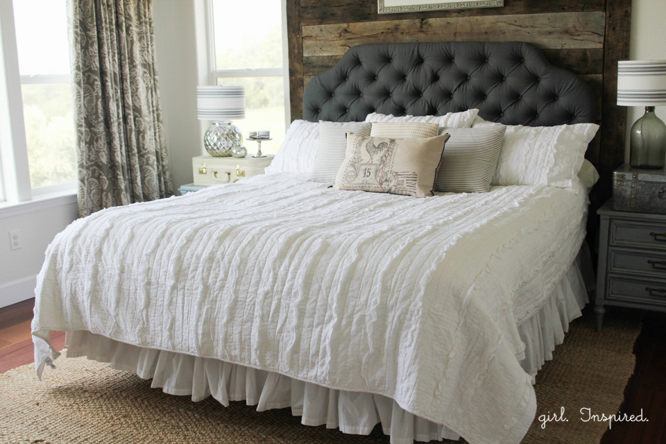 How to Make a Tufted Headboard - step by step tutorial