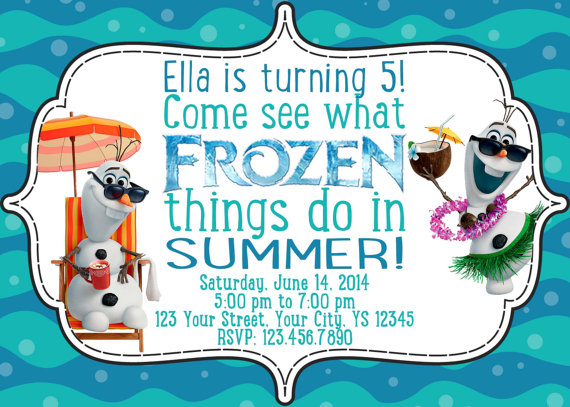Frozen in Summer Birthday Invitation