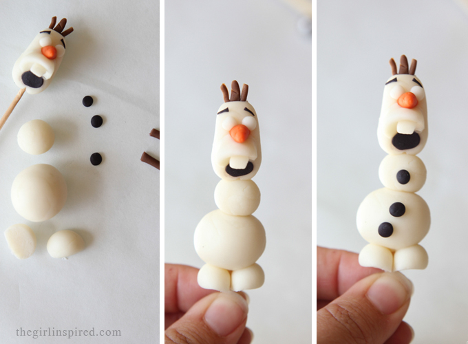 Olaf Cupcakes - make these adorable cupcake toppers - ANYONE can make these!