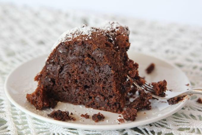 Chocolate Kahlua Cake - the easiest, richest, moistest chocolate cake you'll ever have!
