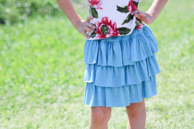 Tiered Ruffle Skirt Tutorial