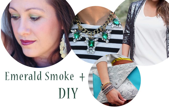 Emerald Smoke Look from Mary Kay + coordinating DIY ideas