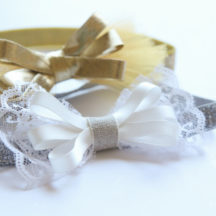 Glitter Bow Headbands - Easy + no Sew