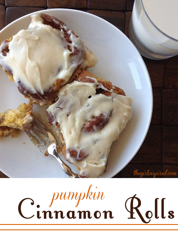 Pumpkin Cinnamon Rolls - these are worth the effort - so gooey and delicious!