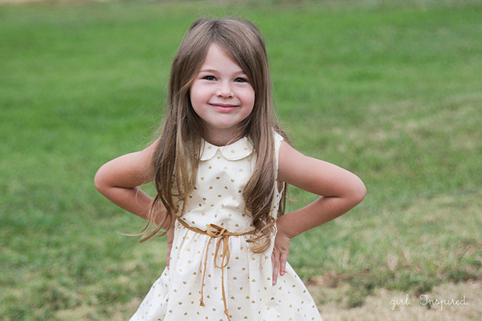 Gold Hearts Dress - dress pattern at fiveandtendesigns.com